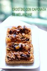 crostini con caponata (Amaradolcezza) Tags: food foodporn ricette amaradolcezza