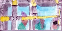 denen, die drauen standen tropfte Schneeregen von der Nasenspitze (raumoberbayern) Tags: sketchbook skizzenbuch tram munich mnchen bus strasenbahn herbst winter fall pencil bleistift paper papier robbbilder stadt city landschaft landscape