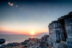 Lindos - Mausoleum of Kleobulos (Richard Reader (luciferscage)) Tags: 2016 fuijifilmxt1 fujixt1 greece july lindos rhodes rodos tilos mausoleum kleobulos tyrant sunrise dawn morning seascape landscape
