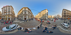 Milan Via Dante - that's one of my favourites! (_B_B_) Tags: 360 panorama equirectangular vr virtualreality kugelpanorama 360x180 mailand milan italy duomo dom viadante