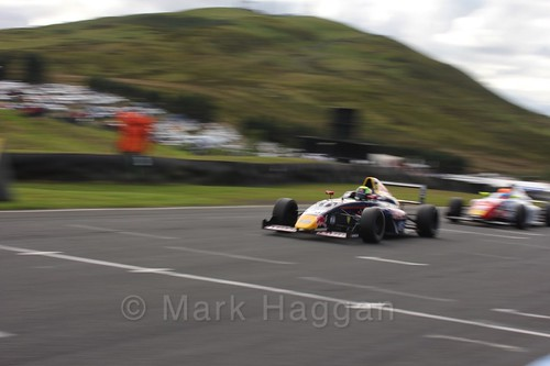 Luis Leeds in the final British Formula Four race during the BTCC Knockhill Weekend 2016