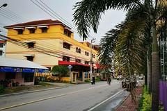 The OO Mission Thailand Bangchalong Samut Prakan Yellow Houses Building Palm Tree Street (markusg2010) Tags: street houses building yellow thailand palmtree samutprakan bangchalong theoomission