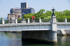 Motoyasu-bashi Bridge (ELCAN KE-7A) Tags: world bridge heritage japan pentax hiroshima dome  bomb atomic bashi  2016     motoyasu  k5s