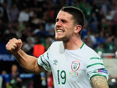 Dumb Pose Two (knightbefore_99) Tags: euro 2016 dumb pose ireland france loser fist pump macho game match futbol football idiot teeth caveman robbie brady hoon