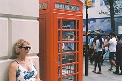Untitled - London July 2017 (Crankinguru) Tags: colour telephone streetphotography kodakektar100 film leicaiiif leica london