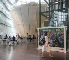 Renoir exhibition_The National Art Center_Tokyo (sapphire_rouge) Tags:    japanese  roppongi japan tokyo artmuseum art renoir museum thenationalartcentertokyo exhibition girl schoolgirl