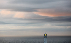 South Stack Lighthouse against an Autumn sky and sea, Holyhead (Tom Greenough) Tags: autumn2011