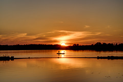 fishing into the sunset (gh2010ism) Tags: sunset fishing sky color clouds sun nikon d750 recent boat people portrait