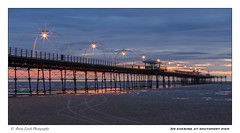 An Evening at Southport Pier (Brian-Leach) Tags: southport pier merseyside lancashire sunset lamps blue hour beach tracks victorian