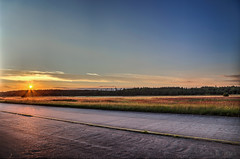 Runway in sunset (Crones) Tags: canon 6d canoneos6d canonef24105mmf4lisusm 24105mmf4lisusm 24105mm czech czechrepublic ralsko landscape sunset goldenhour goldhour sky hdr photomatix runway