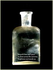 observational haiku (smacss) Tags: haiku bottle dark light cloudy timeinabottle jimcroce time space