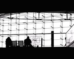 Someday my Train will come... (floressas.desesseintes) Tags: berlin berlinmitte hauptbahnhof centralstation mainstation bahn railway zug train warten waiting fahrgste passagiere passengers deutschebahn db streetfotografie schwarzweis