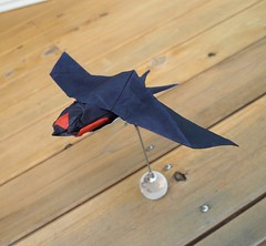 Origami Swallow (Lonely-Shiba) Tags: origami original bird