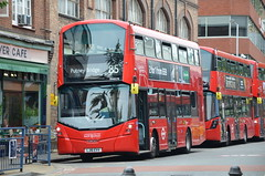 Shiny buses.... (stavioni) Tags: london united go ahead transport ratp group bus double decker red vh45175 volvo b5l hybrid wright wrightbus gemini 3 streetdeck lj16evv