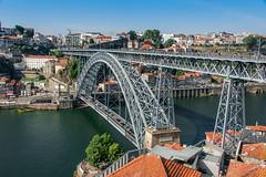 LE PONT EIFFEL A PORTO (brijjour) Tags: pont eiffel porto fleuve portugal architecture douro campagne nature port vignes