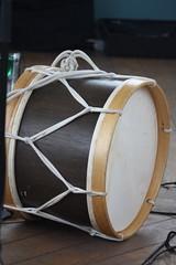 Cylindrical Drums 27: Alfaia (of Alu Nascimento) (KM's Live Music shots) Tags: musicalinstrument hornbostelsachs membranophone alfaia bassdrum drums brazil alunascimento pdejurema hornimanmuseum