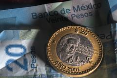 Rare MXN $20 Coin (ruimc77) Tags: nikon d810 sigma 105mm f28 ex dg os hsm macro 11 moneda coin moeda mexican peso mexicano mxn 20 pesos mexicanos octavio paz 1990 nobel prize literature 2001 bank note billete papel rare raro shadow sombra
