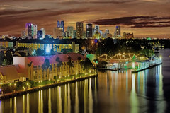 The skyline of Fort Lauderdale, Florida, U.S.A / Venice of America (Jorge Marco Molina) Tags: centralbusinessdistrict fortlauderdale ftlauderdale city cityscape urban downtown skyline building skyscraper tower architecture panoramic sunshinestate density browardcounty redsky cosmopolitan metropolitan metro metropolis commercialproperty realestate southeastflorida southflorida citylights longexposure nikond7100 jorgemolina buildingsatnight nightshot