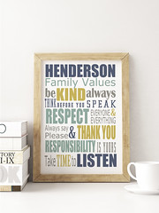 Family Values (larchart) Tags: art print custom personalised family values colourful bright life lessons typography
