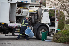 Garbage Man (Can You See What I See?) Tags: trash garbage nanaimo garbagetruck garbageman
