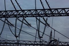 Substation Buescherhof (Markus Branse) Tags: germany ceramic deutschland high power steel powerline strom glas substation voltage stromversorgung insulators umspannwerk stahl hochspannung keramik elektrisch insulator elektrizität leitung spannung isolatoren elektrischer freileitung isoator