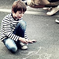 chalk (palinta) Tags: street boy art chalk kid drawing budapest palinta