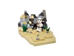 Testificate (Dex J) Tags: star desert lego stormtrooper wars vignette snot
