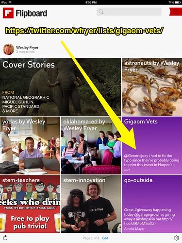 Gigaom Vets Twitter List on Flipboard by Wesley Fryer, on Flickr