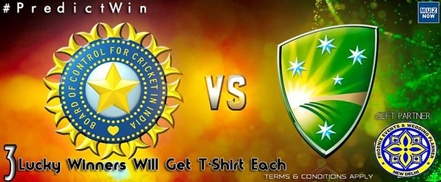 Predict & WIN! Predict Indias score in the upcoming INDIA Vs AUSTRALIA Semi Final 2 match and win exclusive T-shirt of Phoenix Events & Wedding Planner, No.1 Wedding Planner in Bihar ! To enter: ✓ Like our FACEBOOK page Muzaffarpur Now ✓ Share this post