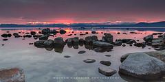 Burning Lake (hazarika) Tags: sunset rocks nevada laketahoe sandharbor canon1635mmf28liiusm canon5dmarkiii mausamhazarikaphotography