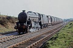 45435  at HEST BANK, Lancs.  20th April 1968 (Brit 70013 fan) Tags: br engine steam lancashire british 1968 railways freight steamengine hestbank britishrailways westcoastmainline black5 45435