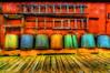 Fishing buckets (Rick Gravelle) Tags: newfoundland fishing nikond70 scenic nik southcoast hdr dory topaz iphotooriginal fishingequipment singleexposurehdr outports ramea fishingbuckets