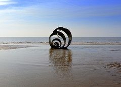 Mary's Shell at Cleveleys - 11 (Tony Worrall) Tags: county uk sea england sculpture © art english beach wet water town seaside stream artist tour open place northwest country north shoreline visit location tony lancashire resort coastal shore area publicart splash northern update blackpool attraction cleveleys lancs fylde 2015 fyldecoast worrall cleveleysmythologicalcoastline marysshell welovethenorth ©2015tonyworrall