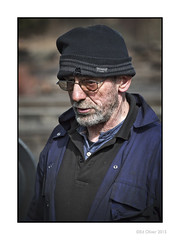 Grease Monkey (Seven_Wishes) Tags: uk portrait hat beard glasses grim candid grease dirt oil overalls weathered worker grime lowkey peoplewatching newcastleupontyne onone tanfield tyneandwear peopleportraits niksoftware canonef70200mmf28lisii canoneos5dmark3 newcastlepeople newcastleupontynenortheast marleyhillyard engineworker