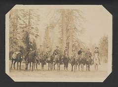 [Tourists on Horseback in Mariposa Grove, Yosemite National Park] (SMU Central University Libraries) Tags: yosemitenationalpark nationalparks horsebackriding uswest
