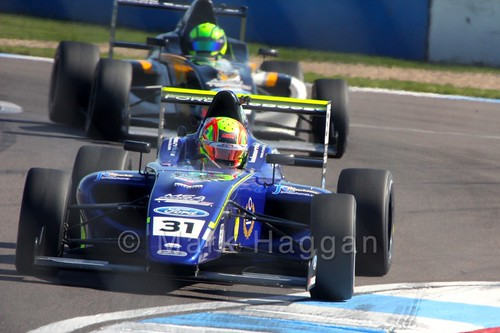 Lando Norris racing in MSA Formula at Donington Park