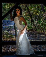 Lady in the woods (glamnglitter40) Tags: life autumn wedding portrait people woman white color tree cute eye love nature girl beautiful beauty smiling fashion lady female forest diamonds hair happy person bride model glamour eyes woods hand adult innocent young wed teen ready gown cheerful bridal engaged pure elation fiance contestant debutante shivani prepared whitedress