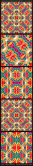 5 Multicolored Geometric Patterns (Daniel Ferreira-Leites) Tags: wallpaper abstract art texture geometric colors digital print design pattern geometry african decorative background indian vivid style tribal textile fabric ethnic multicolor seamless primitive intricate tileable tribalpattern
