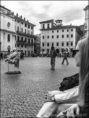 S 097 24 04 2015 (marcos 1950) Tags: street blackandwhite roma piazzanavona biancoenero scattidistrada
