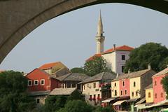 Happy Friday ! / Mostar under the bridge , Bosnia (Unesco world heritage) (Frans.Sellies) Tags: mostar bosnia mosque bih bosniaandherzegovina img9303