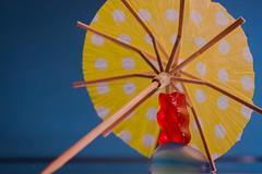 Gummibrchen (eule182000) Tags: rot wasser gummibrchen indoor gelb sweets blau candies haribo br weingummi gummibr lebensmittel erholung schirm sonnenschirm spielerei fruchtgummi ss ssigkeiten naschkram