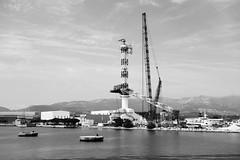 Crane building a crane, La Seyne-sur-Mer, France (MannyPerry) Tags: france port harbor boat industrial crane highcontrast var laseynesurmer seynesurmer