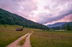 Geroldsee (mattinho2704) Tags: mountain lake mountains nature clouds sunrise germany deutschland dawn see nikon hiking path natur wiese wolken alm wandern garmisch garmischpartenkirchen weg gebirge karwendel wetterstein almwiese geroldsee wagenbrchsee