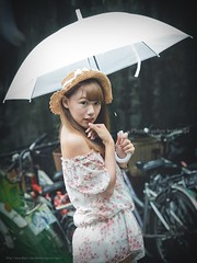 jaylin-0005 ( Jaylin) Tags: school portrait girl hat rain studio outside glasses model women university longhair taiwan straw olympus oldhouse dresses taipei mirco turf omd   jaylin m43   40150mm mzd  jelin      linjay