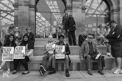 Black Lives Matter. (Michael Kirkham - Photographer) Tags: blacklivesmatter liverpool uk england solidarity demo protest humanity life smile hope love light people