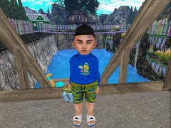 Tubbin' (Zaidon Resident) Tags: virtural reality toddleedoo secondlife sky shoes sneakers shirt shorts sandals sun fashion fit flipflops flowers furniture fence fun ocean photo photographer photography photooftheday photograpy pictures people pc pretty pose poses park surfing surfsup flite minions boys blogger blogging babies blue beach buildings suitcase vacation packing hair cute clouds deck chairs tubbing swimming houses monsters viva kids vivakids