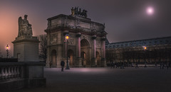 Paris, near Louvre (Luc Mercelis) Tags: paris france night wow nightshot noflash nightscene notripod parijs placeducarrousel sonyslt77v paris2015night