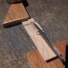 Blade filing jig: filing HA (Bushman.K) Tags: diy blade knifemaking setup filing tanto swordmaking metalworking