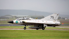 Draken (calzer) Tags: sk35 seater two pilots silver friday weather damp lossiemouth fighter jet classic saab aircraft draken swedish historic flight