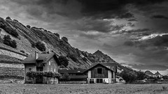 MYSTERY HOUSE (Jeton Bajrami) Tags: rouge blackandwhite house old mystery cloud cloudy contrast wallis valais perfect art 2016 sony alpha alpha77ii a7ii ilca77m2 switzerland sion swiss